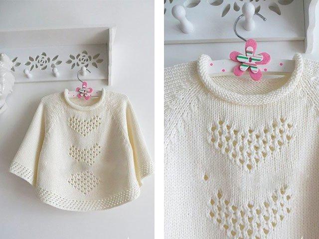 Melange Poncho tricot. Tricot.