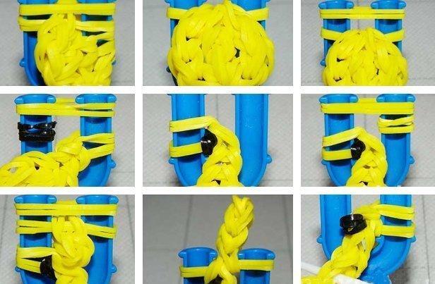 A gumiból készült ábrák: szövés a hernyókon és a gépen