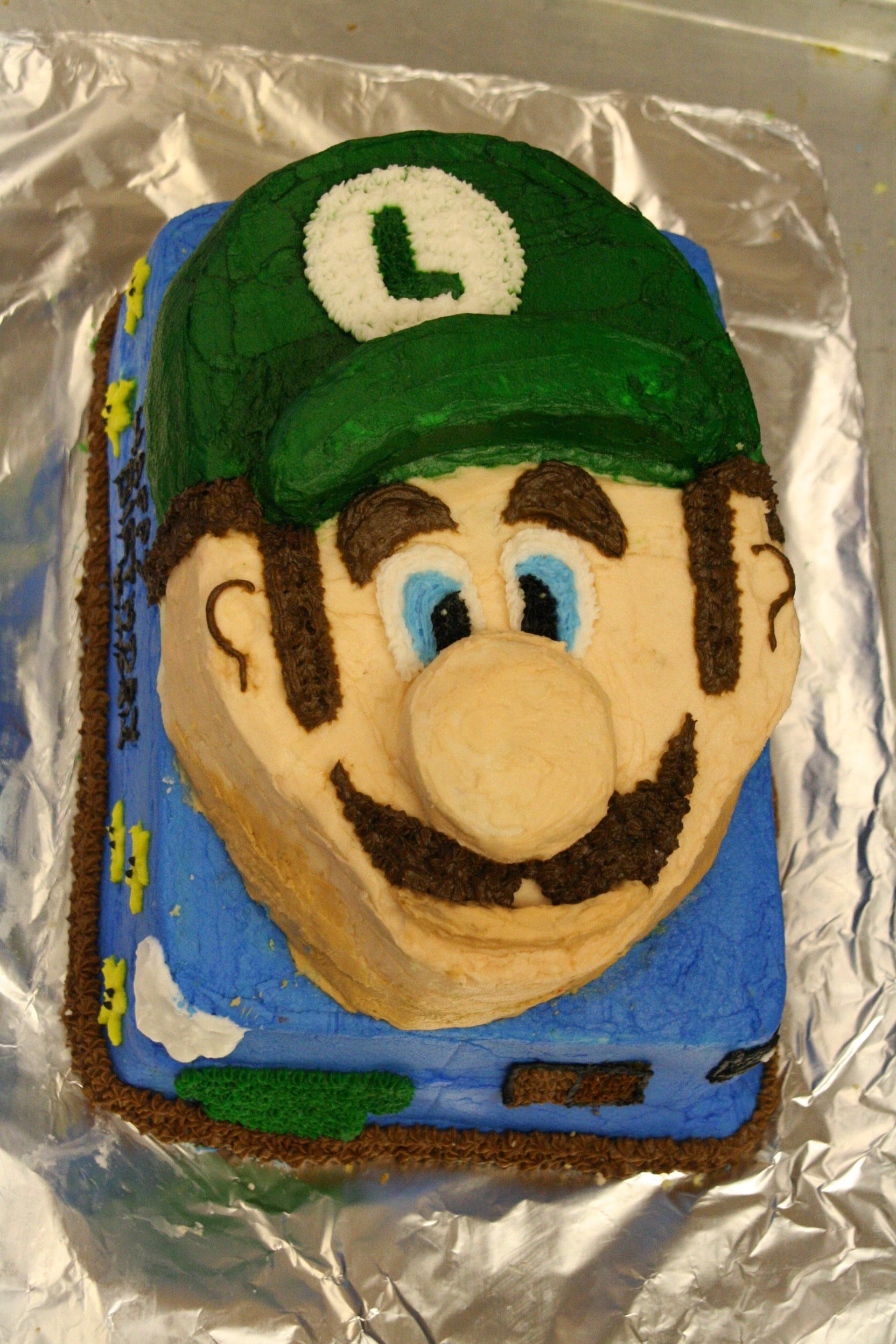 Mario And Luigi Birthday Cake Mysisterscake