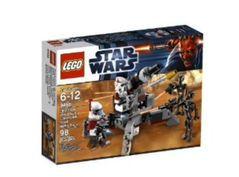 LEGO Star Wars Elite Clone Trooper and Commando Droid B 9488 LEGO     Includes 4 minifigures  ARC trooper  ARF trooper and 2 commando droids   Features Republic artillery cannon and 5 weapons  Republic artillery cannon  features