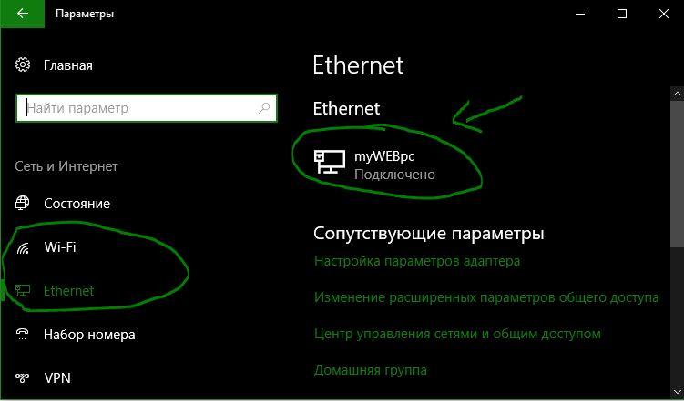 Ethernet қосылымы