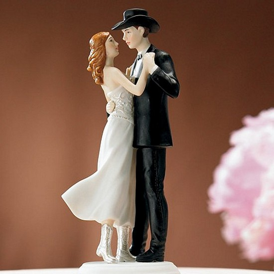 Dancing Western Bride Amp Groom Wedding Cake Topper