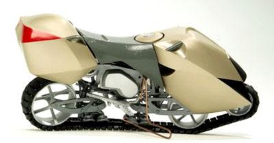 オートバイからスノーモービルを作る方法