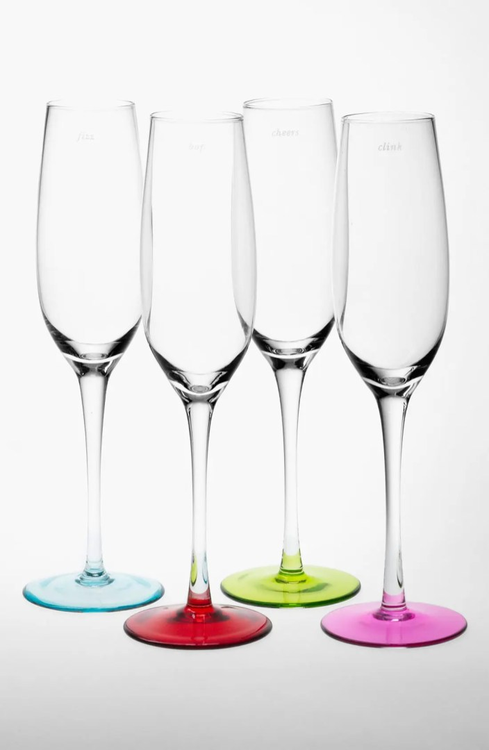 kate spade new york colored champagne flutes (Set of 4 ...