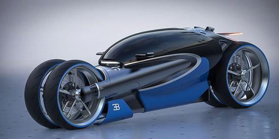 未来感布加迪100m四轮概念摩托车 布加迪 摩托车 概念 新浪科技 新浪网