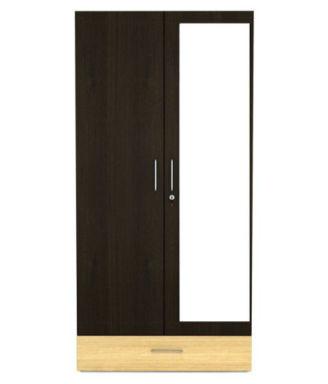 UNiCOS Prospero 2 Door Wardrobe With Mirror in Teak Finish  Buy         UNiCOS Prospero 2 Door Wardrobe With Mirror in Teak Finish