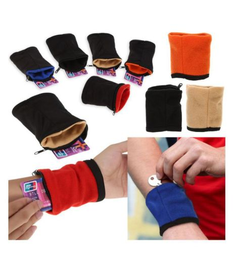 K Kudos enterprise Wrist Wallet Pouch Band Fleece Zipper Gym Cycling     K Kudos enterprise Wrist Wallet Pouch Band Fleece Zipper Gym Cycling Sport  Hiking Travel Safe Wristbands