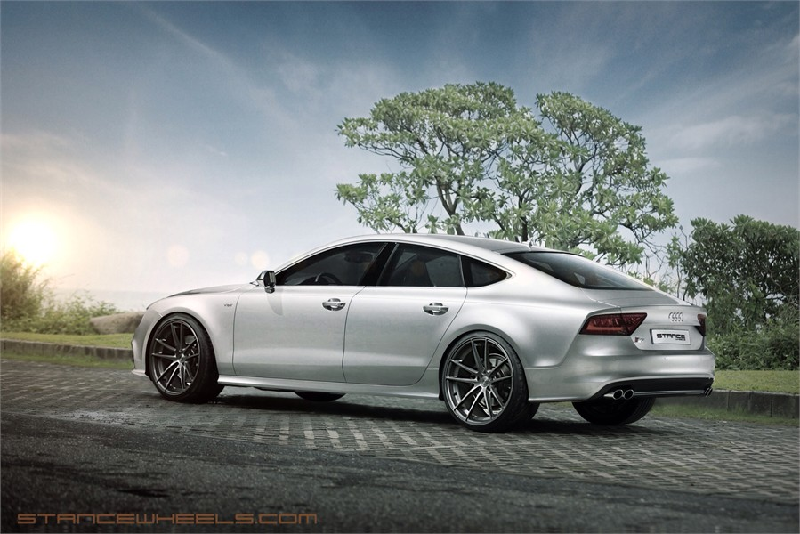 Audi S7 Hits The Streets With The Brush Titanium Stance Sc