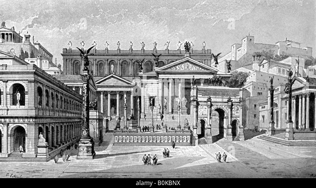 Forum Romanum Reconstruction Stock Photos & Forum Romanum ...