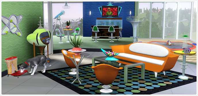 Sims 3 Living Room Decor