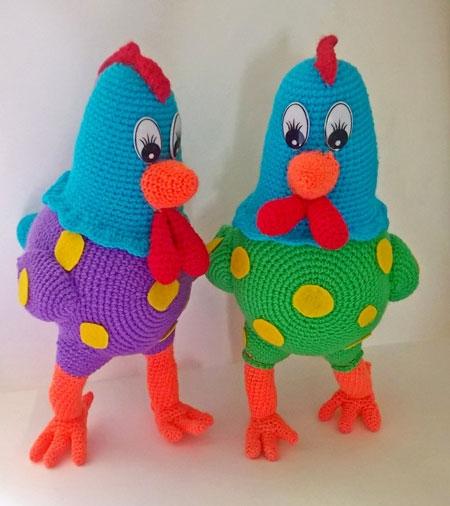 Leksaker Roosters i Polka Dot