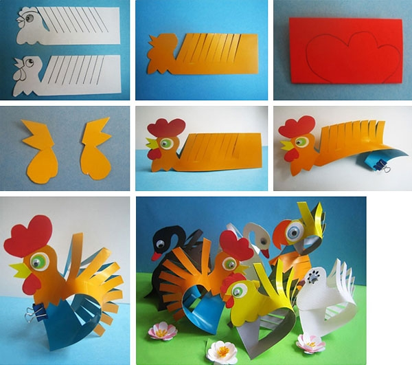 Bagaimana untuk melukis ayam jantan