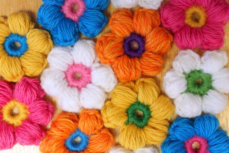 Flowers with crochet do it yourself