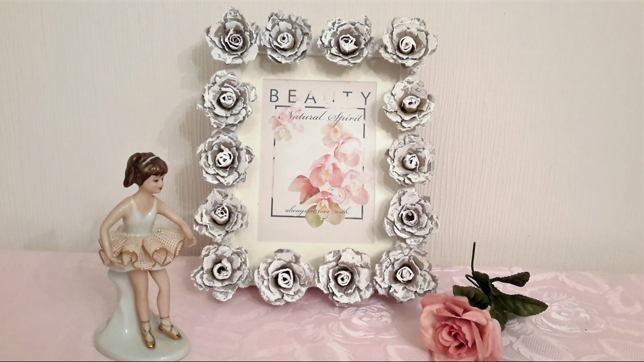 Photo frames from flowers