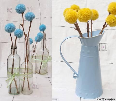 Bó hoa từ Pomponov.
