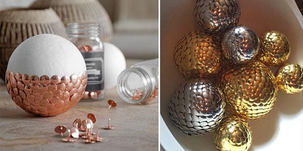 Новогодние шары-артишоки из кнопок