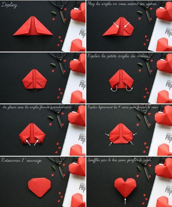 схема объемное сердце