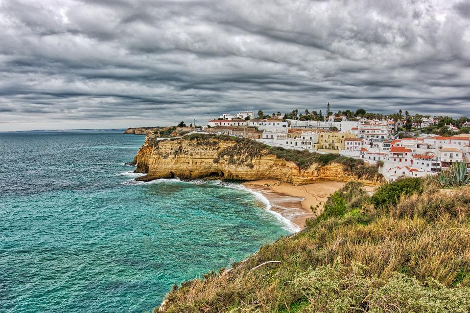 moře, pláž, Carvoeiro