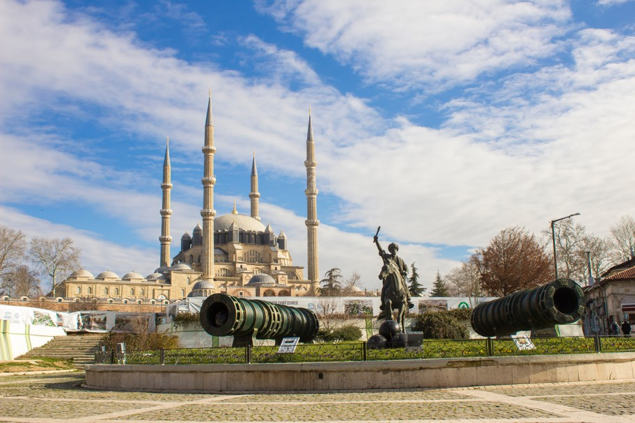 Selimiye Mosque in Edirne, Turecko