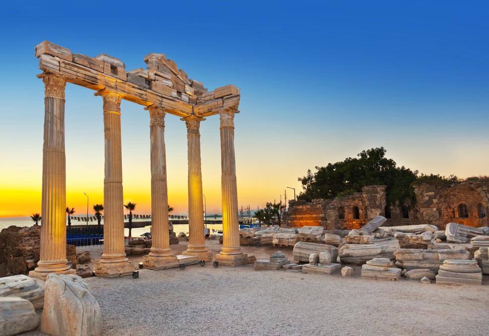 Staré ruiny, side, Turecko