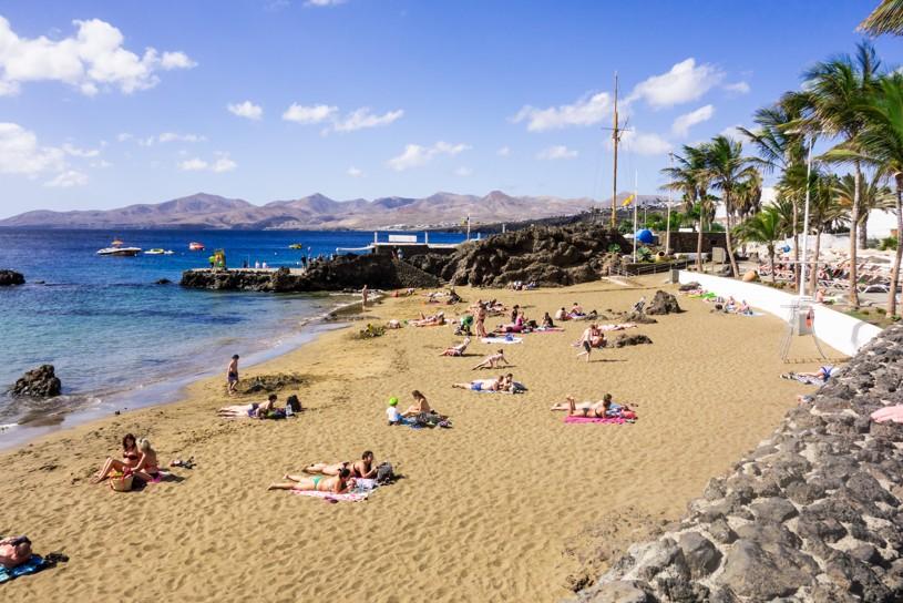 pláž Playa Chica, Lanzarote