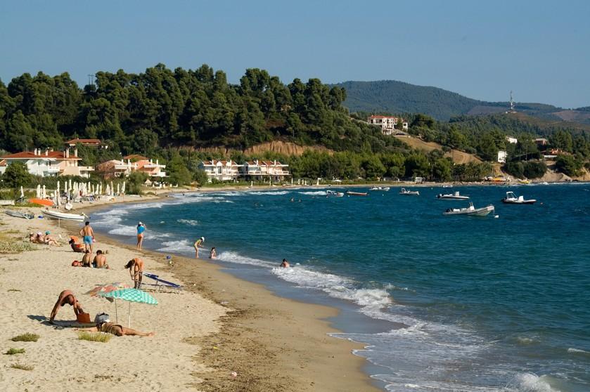 Lagomandra beach, Chalkidiki, Řecko