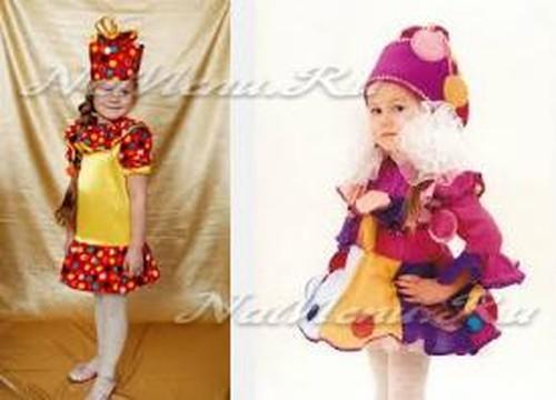 Κοστούμι καραμέλα για ένα κορίτσι για το νέο έτος με τα χέρια τους