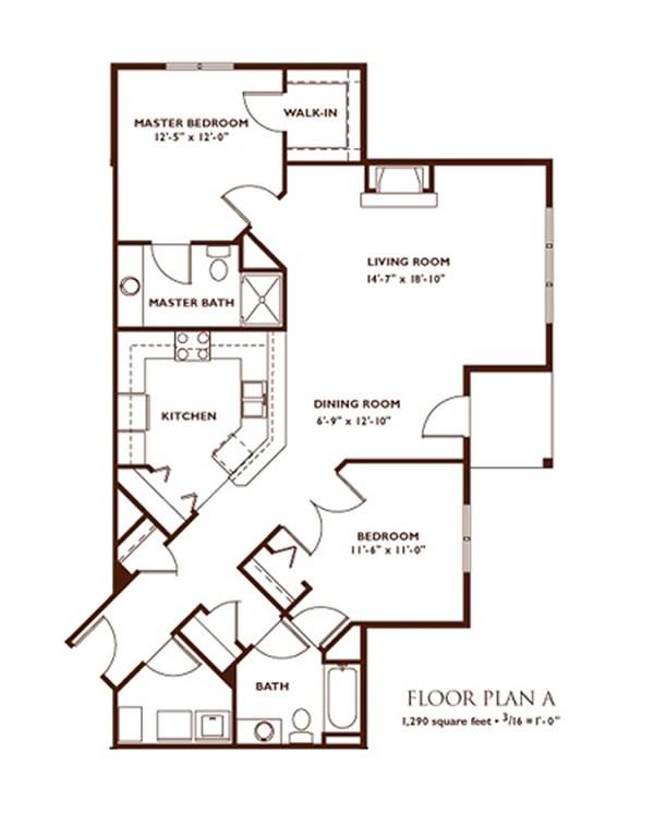 16x50 2 Bedroom Floor Plans