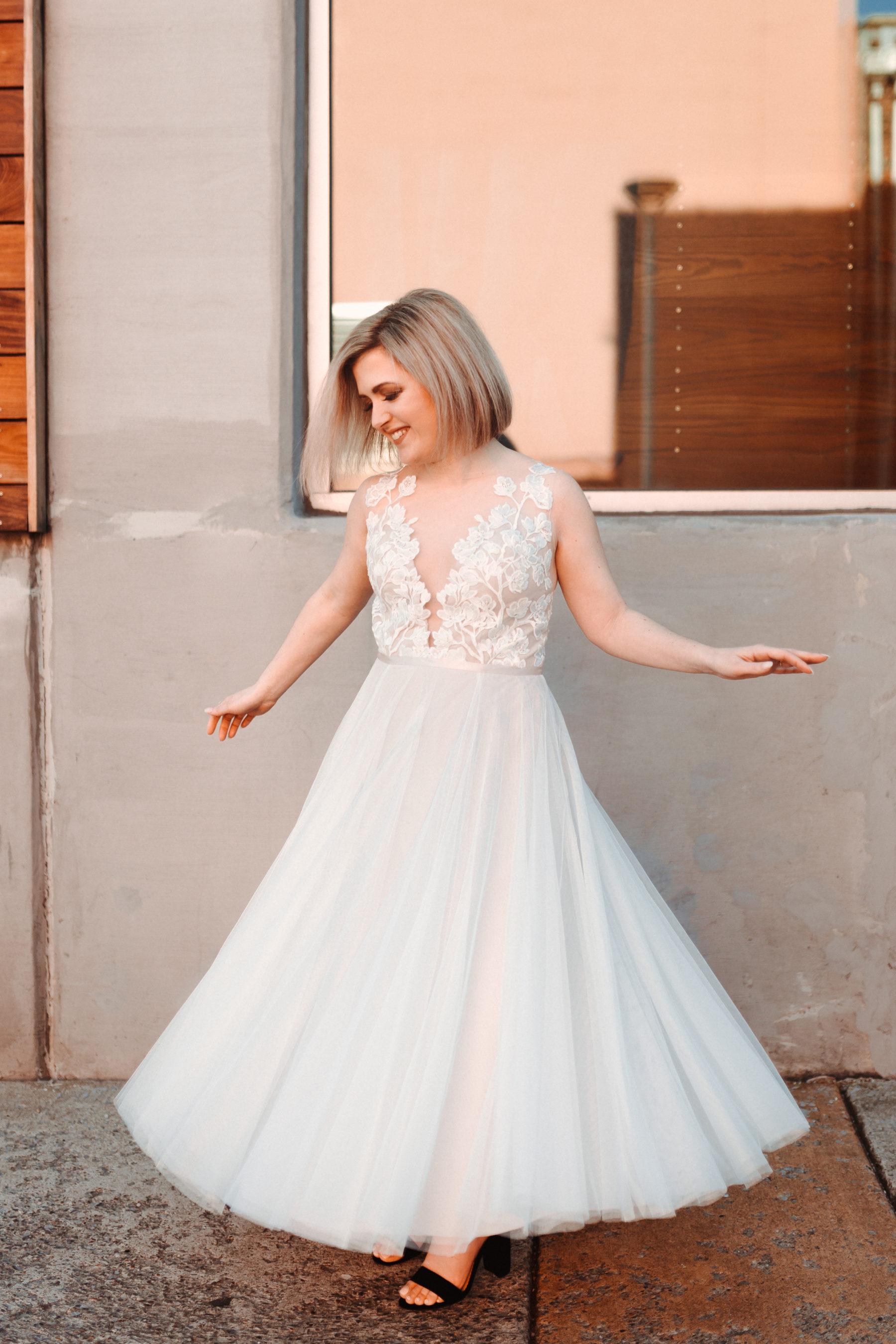 Bridal portrait: Nashville brunch elopement featured on Nashville Bride Guide