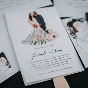 Wedding fan program: Luxurious Stone Rivers Country Club Wedding featured on Nashville Bride Guide