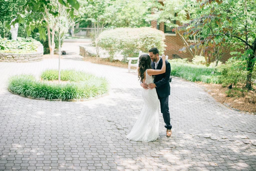 Wedding first look captured by Details Nashville