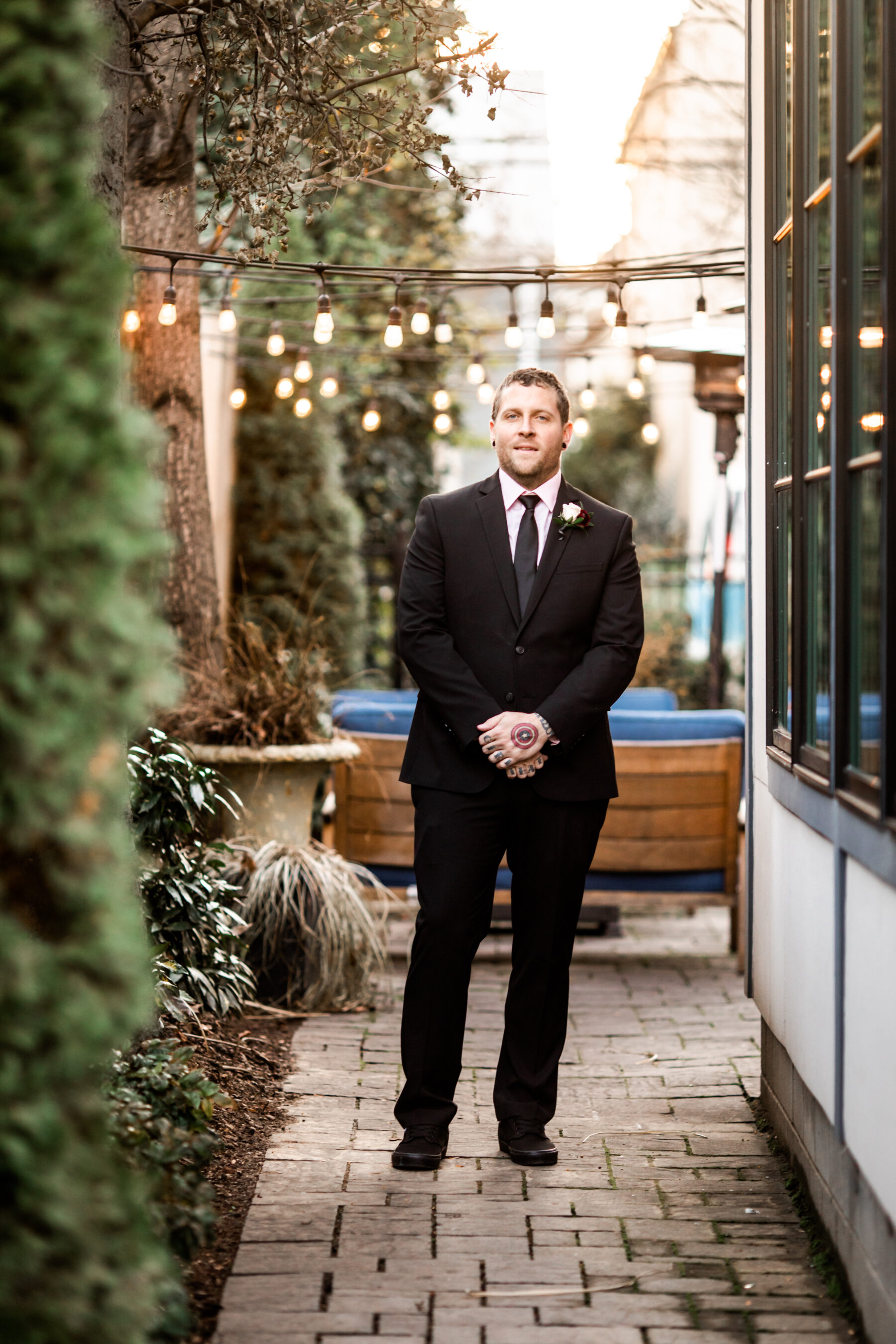 Grooms portrait: Nashville Wish Upon a Wedding captured by Nyk + Cali Photography featured on Nashville Bride Guide
