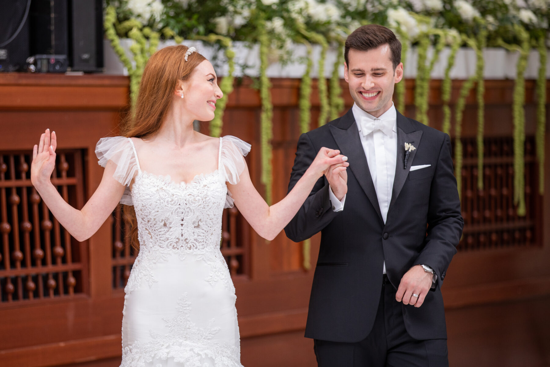 Wedding first dance: Floral Filled Luxurious Wedding by LMA Designs featured on Nashville Bride Guide