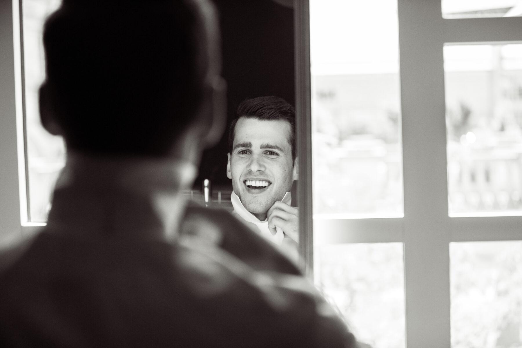 Groom getting ready: Floral Filled Luxurious Wedding by LMA Designs featured on Nashville Bride Guide