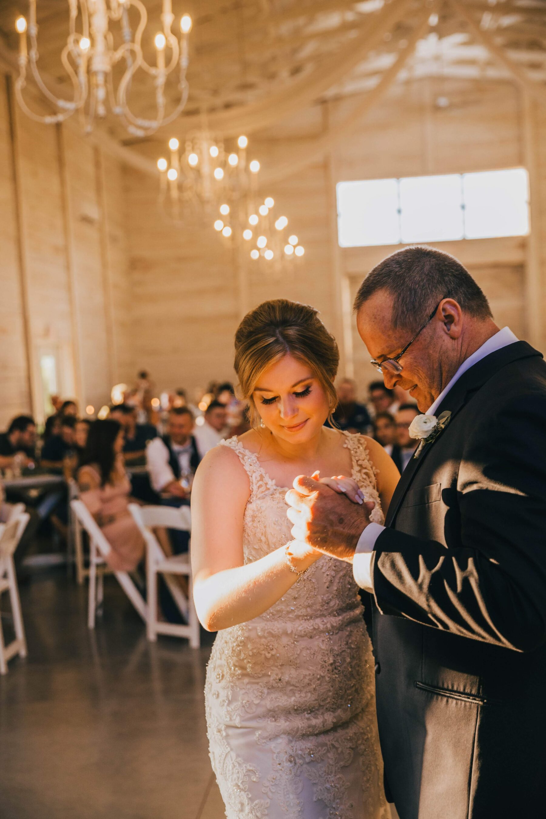 Father daughter dance: White Dove Barn Wedding by Grace Upon Grace Photography featured on Nashville Bride Guide