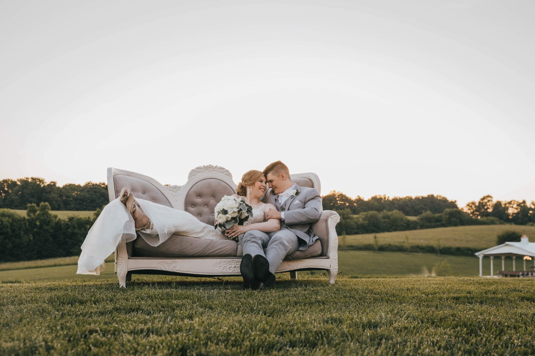 Outdoor wedding portrait: White Dove Barn Wedding by Grace Upon Grace Photography featured on Nashville Bride Guide