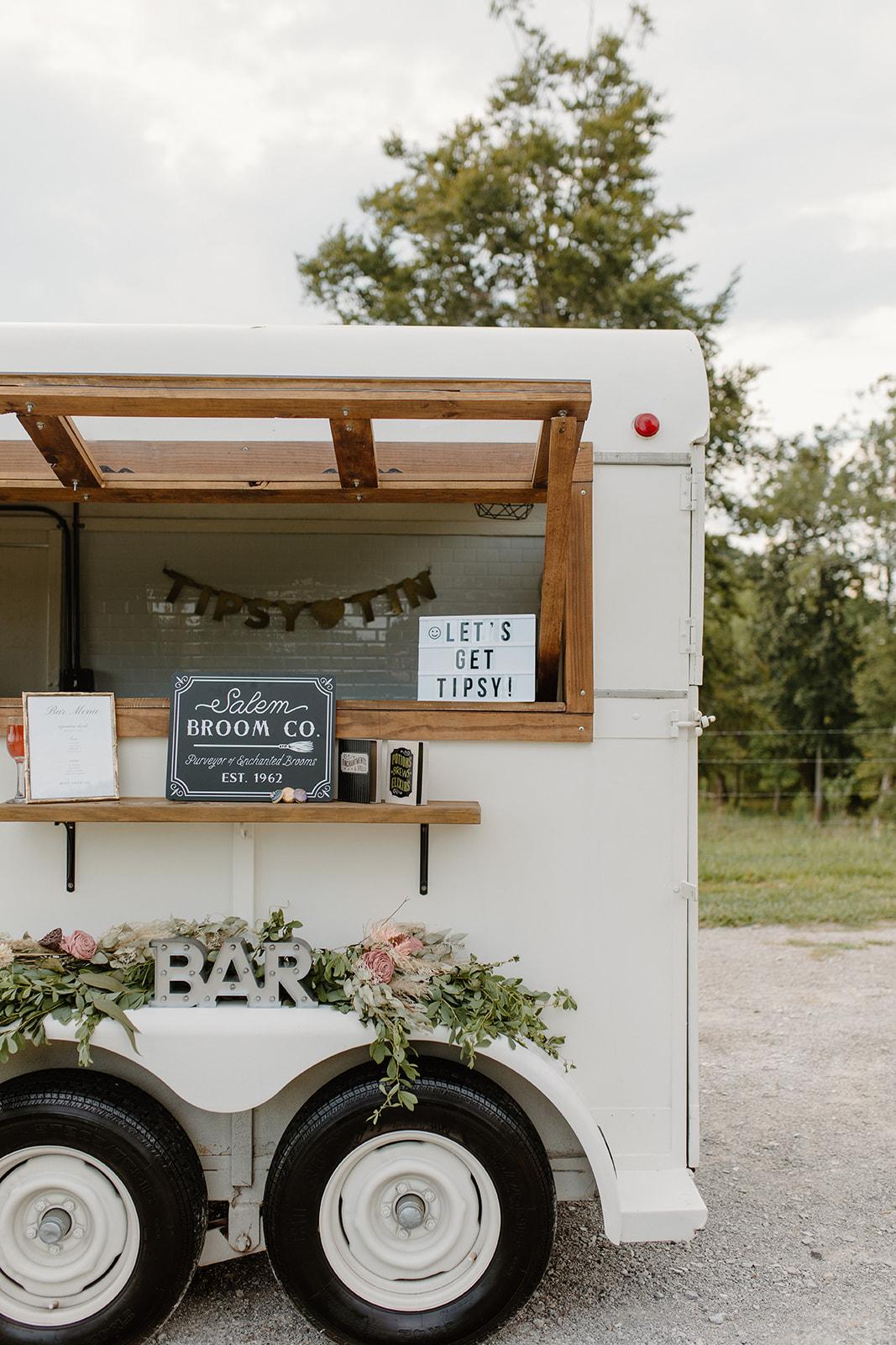 Tipsy Tin Mobile Wedding Bar