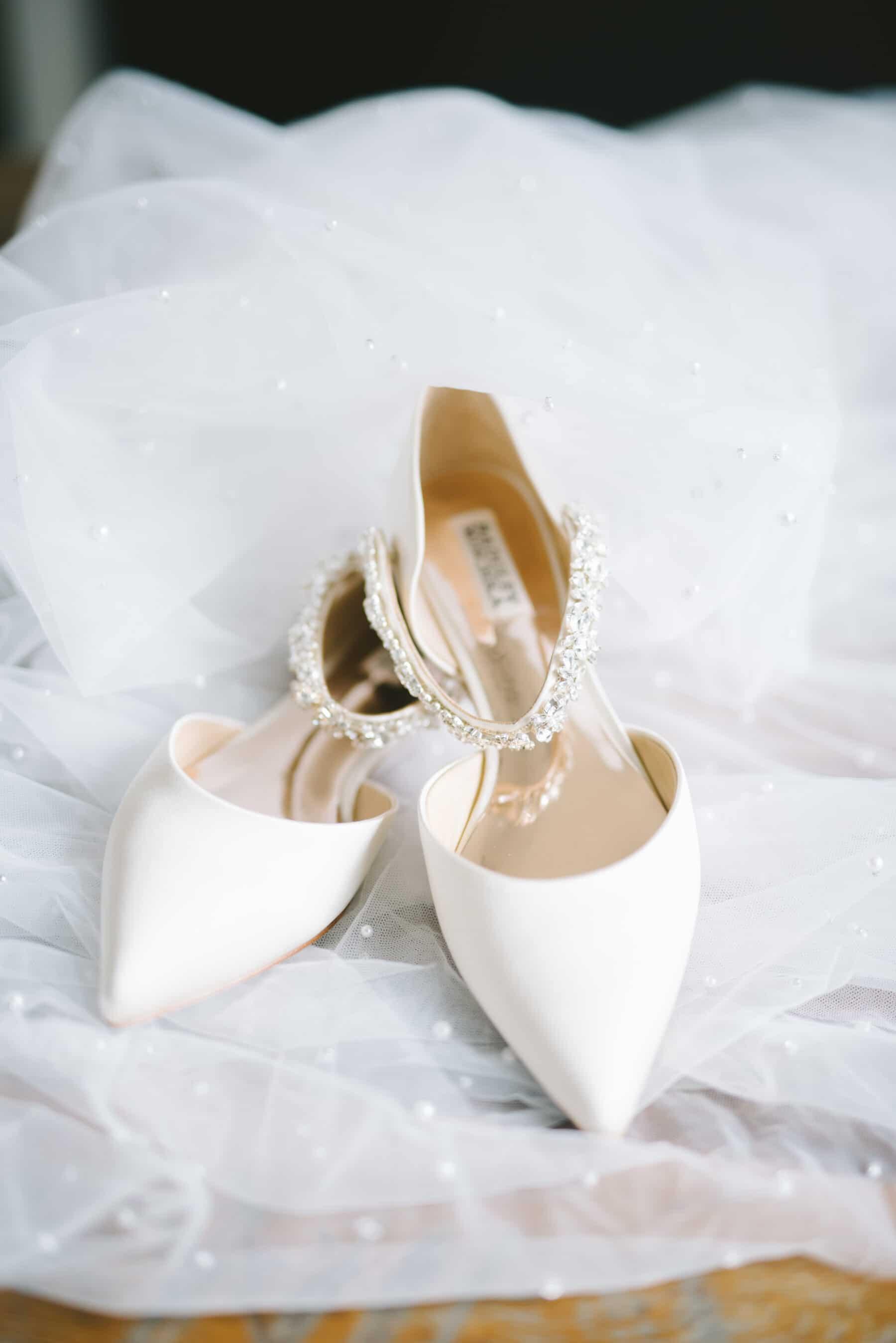 Flat Pointed Badgley Mischka Wedding Flats   Nashville Bride Guide