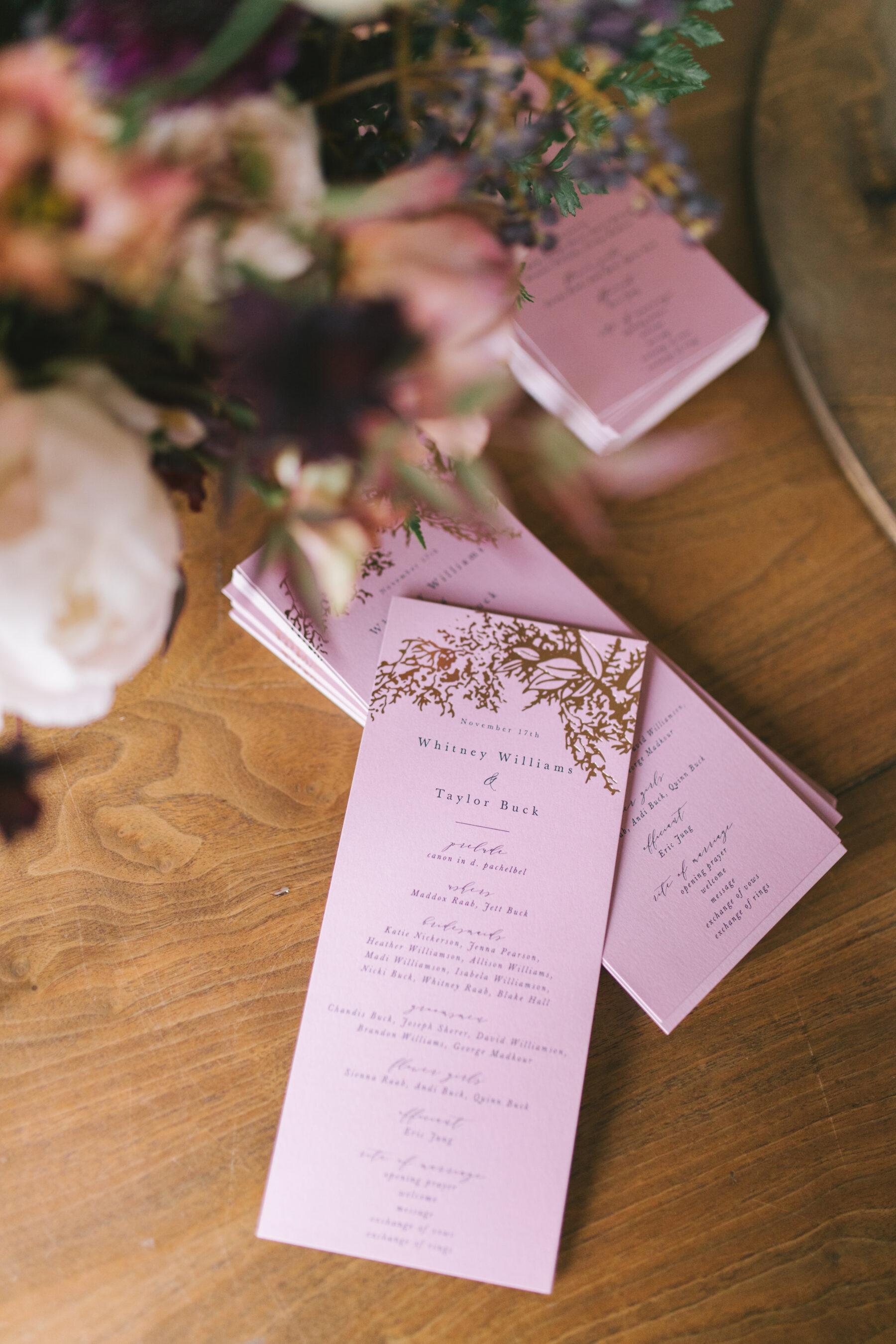 Mauve wedding stationery   Nashville Bride Guide
