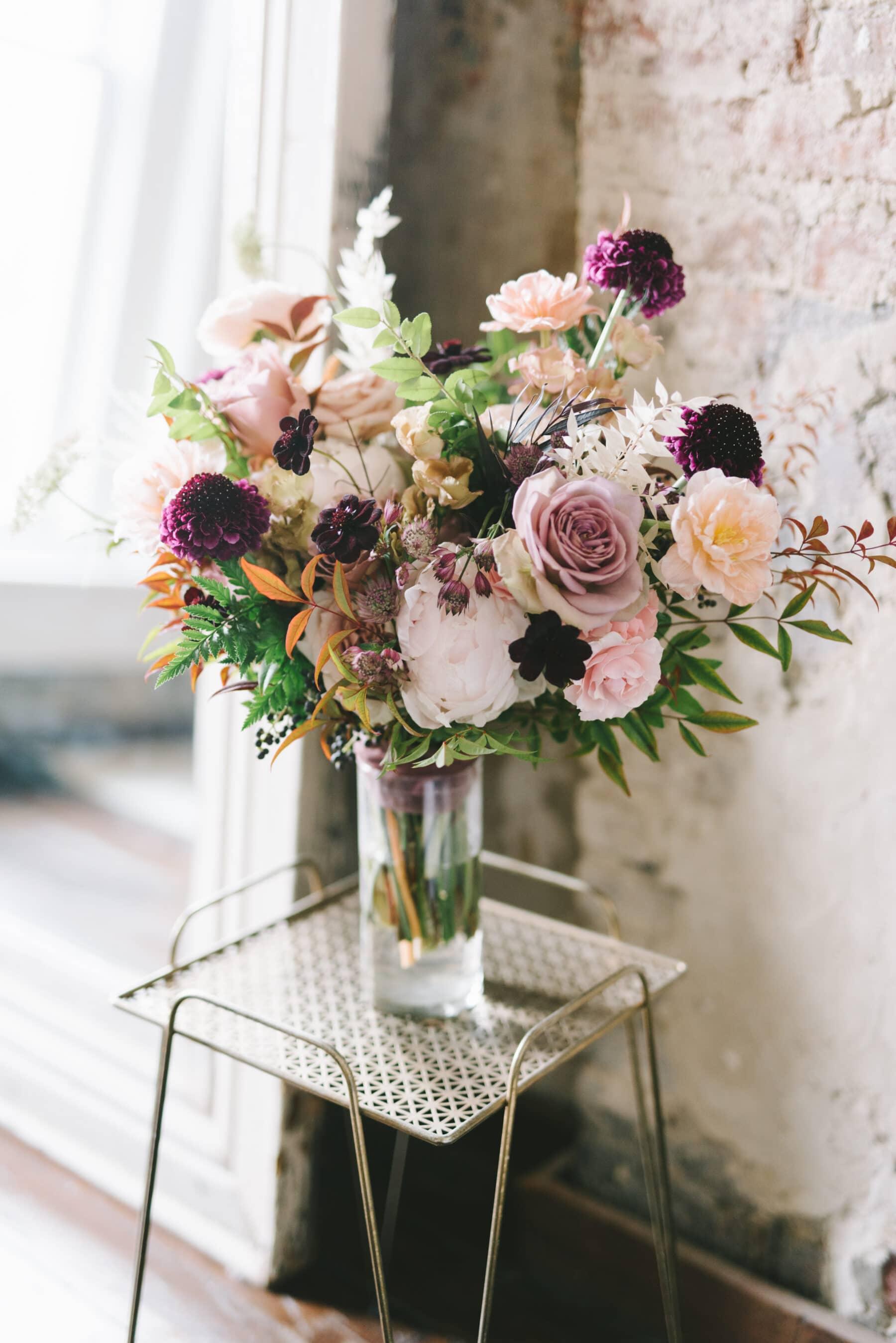 Mauve and Burgundy Wedding Bouquet   Nashville Bride Guide
