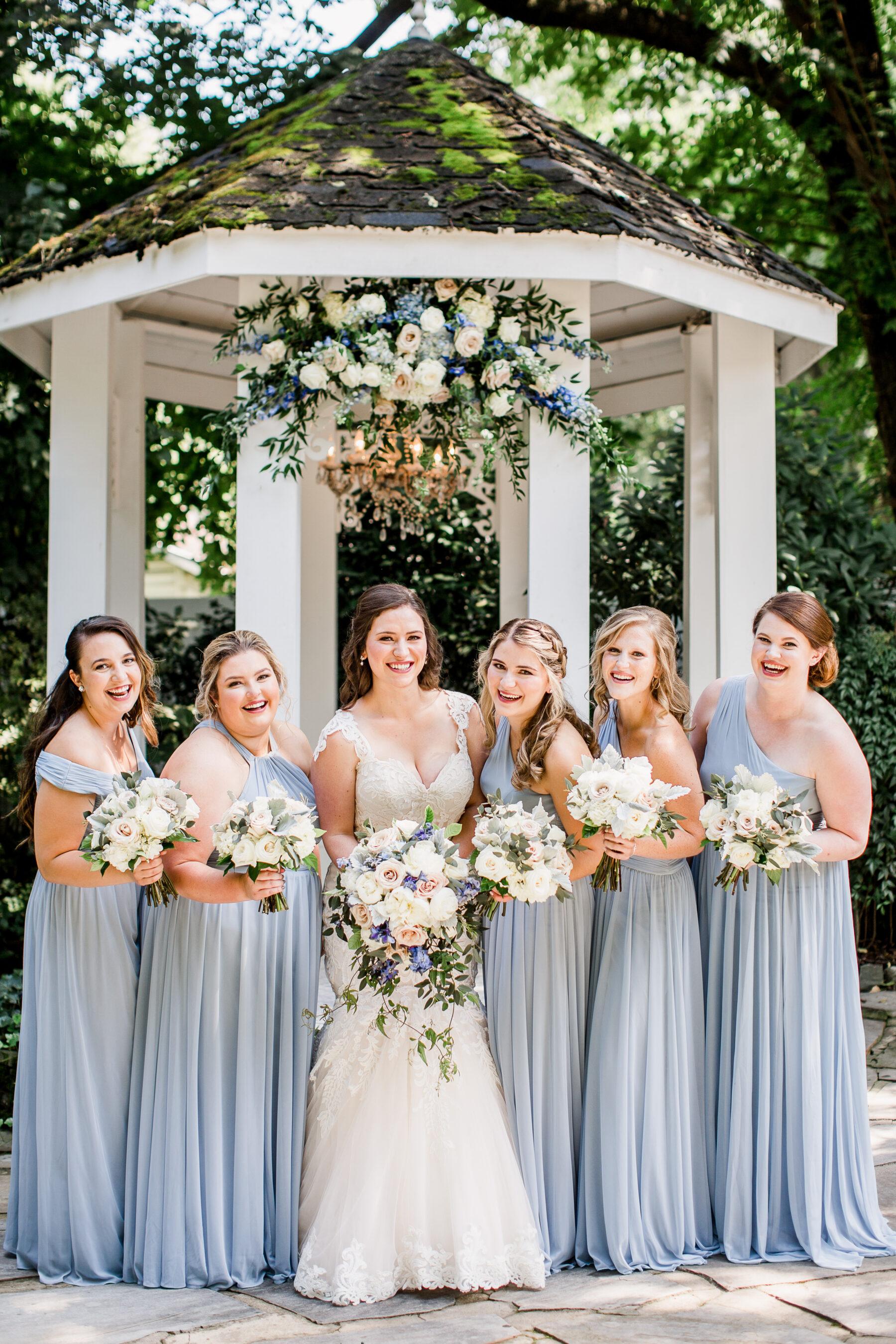 Dusty Blue Bridesmaids Dresses   Nashville Bride Guide