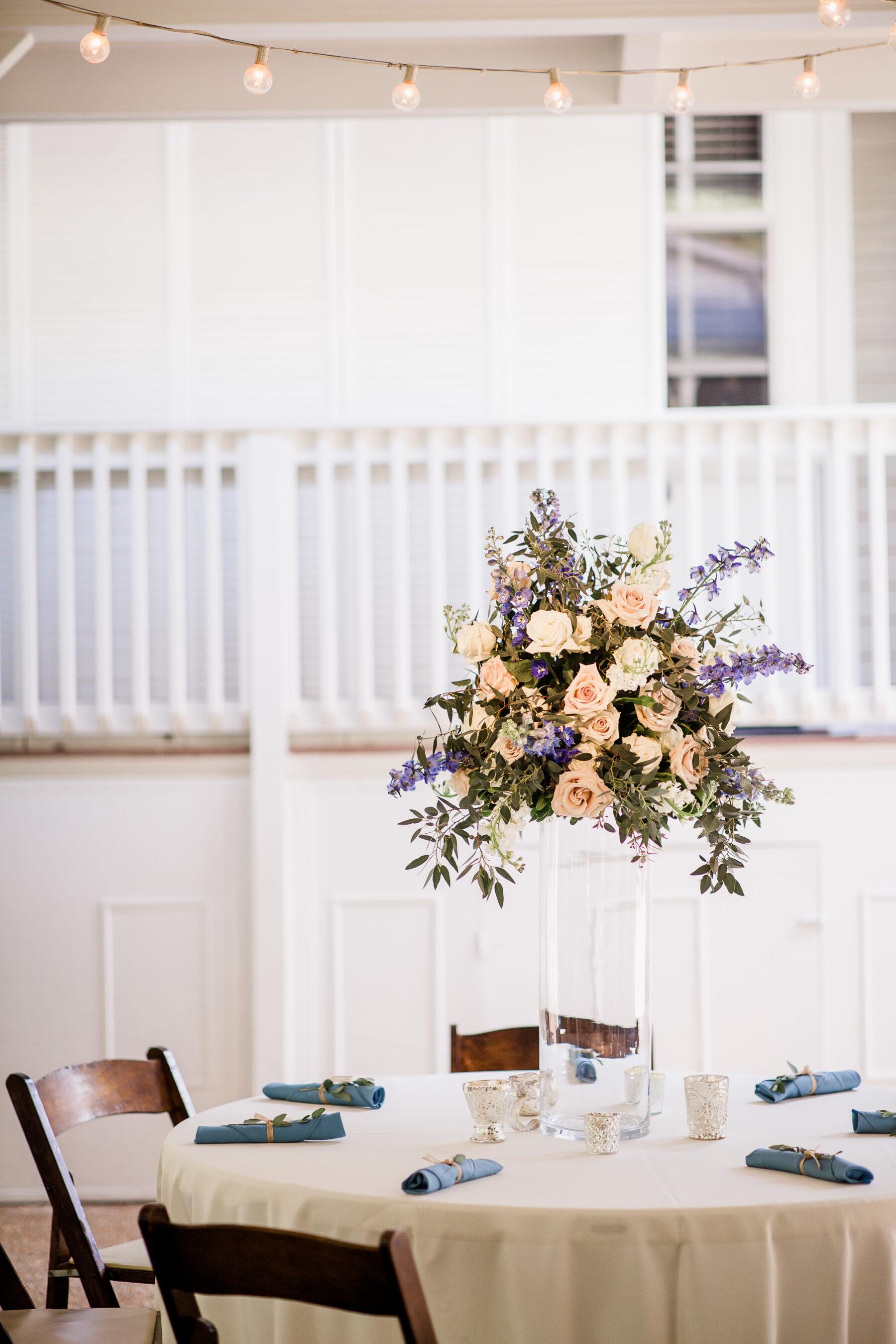 Tall floral wedding centerpieces by Enchanted Florist   Nashville Bride Guide