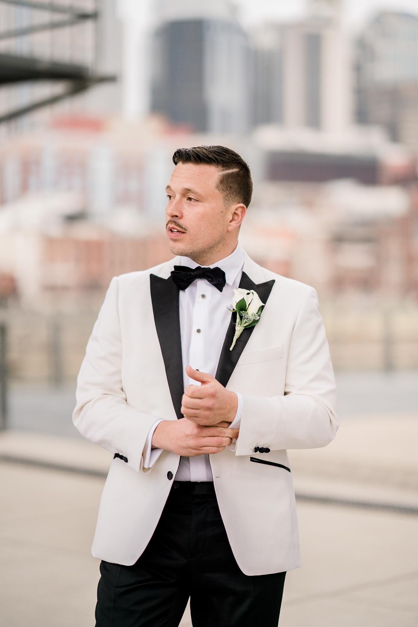 White Wedding Tuxedo Jacket   Nashville Bride Guide