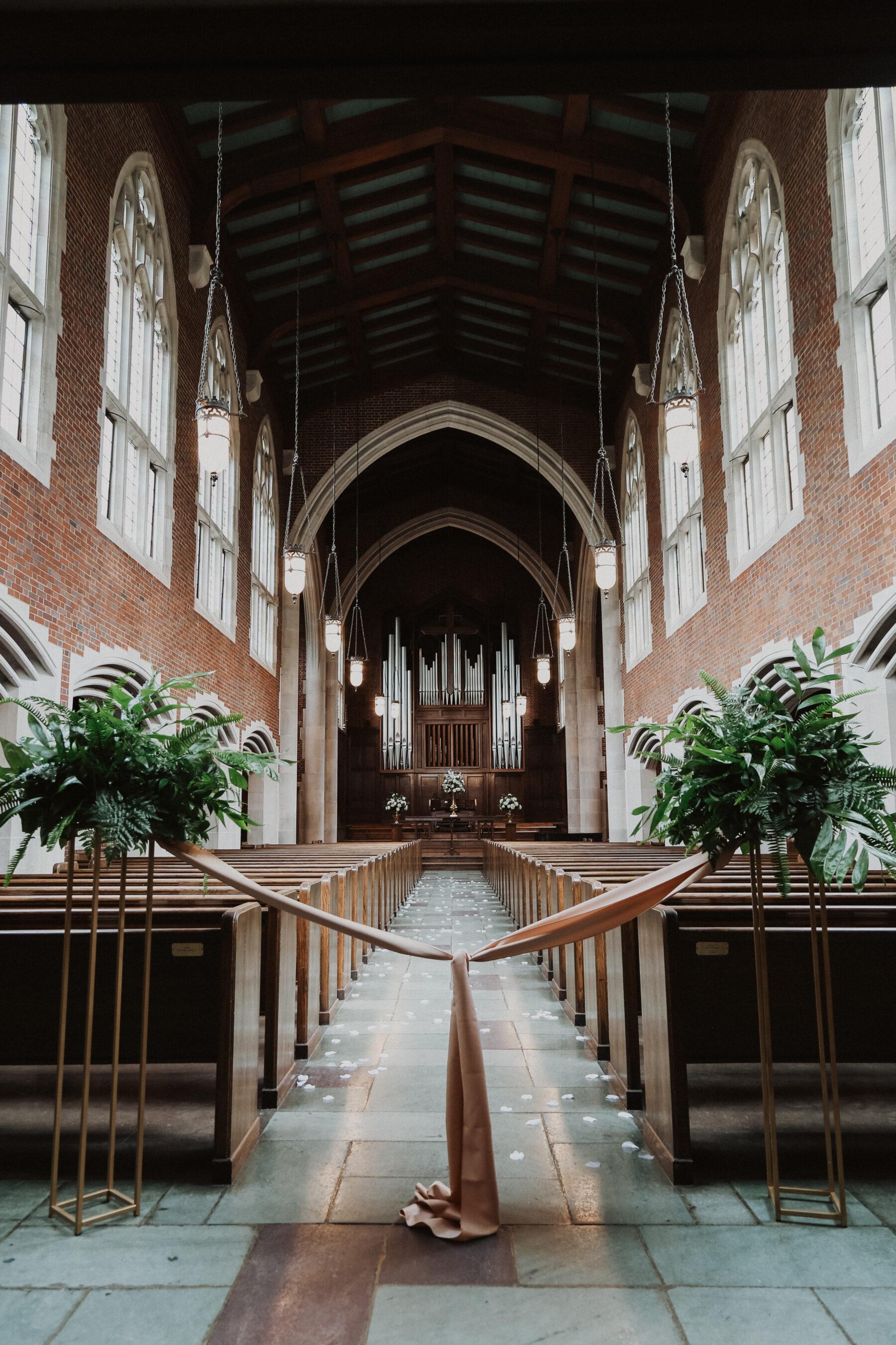 The Scarritt Bennett Center wedding ceremony | Regal Inspired Wedding at The McConnell House | Nashville Bride Guide