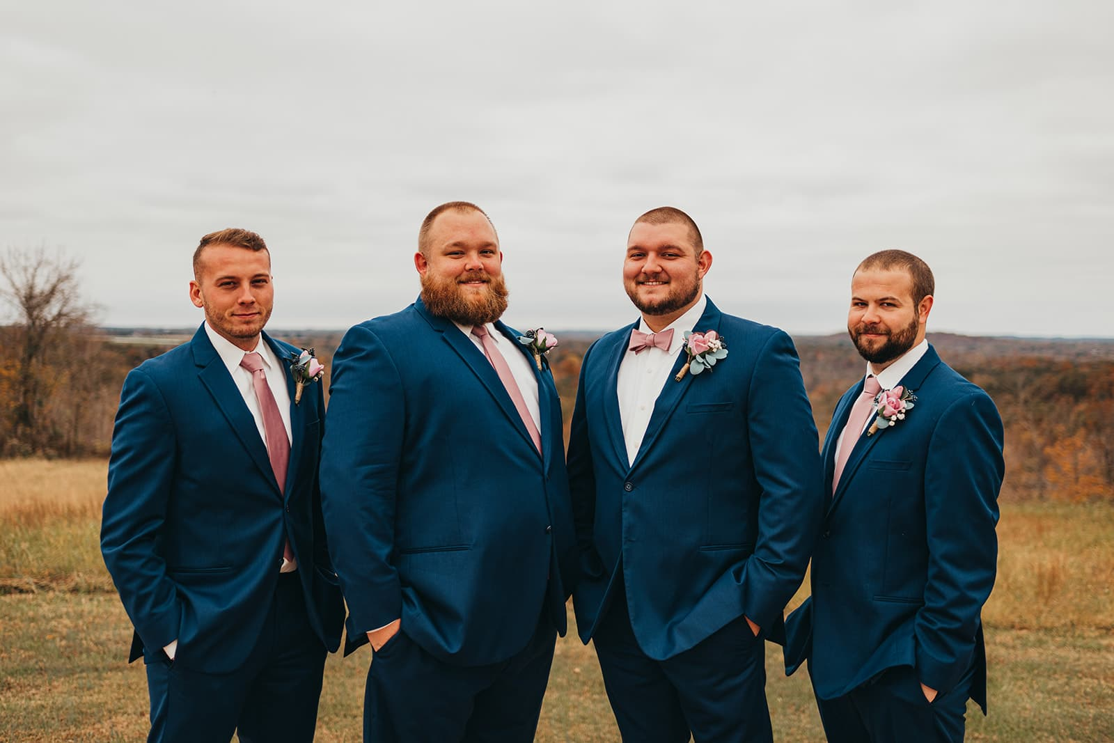 Blue Michael Kors wedding tuxedos