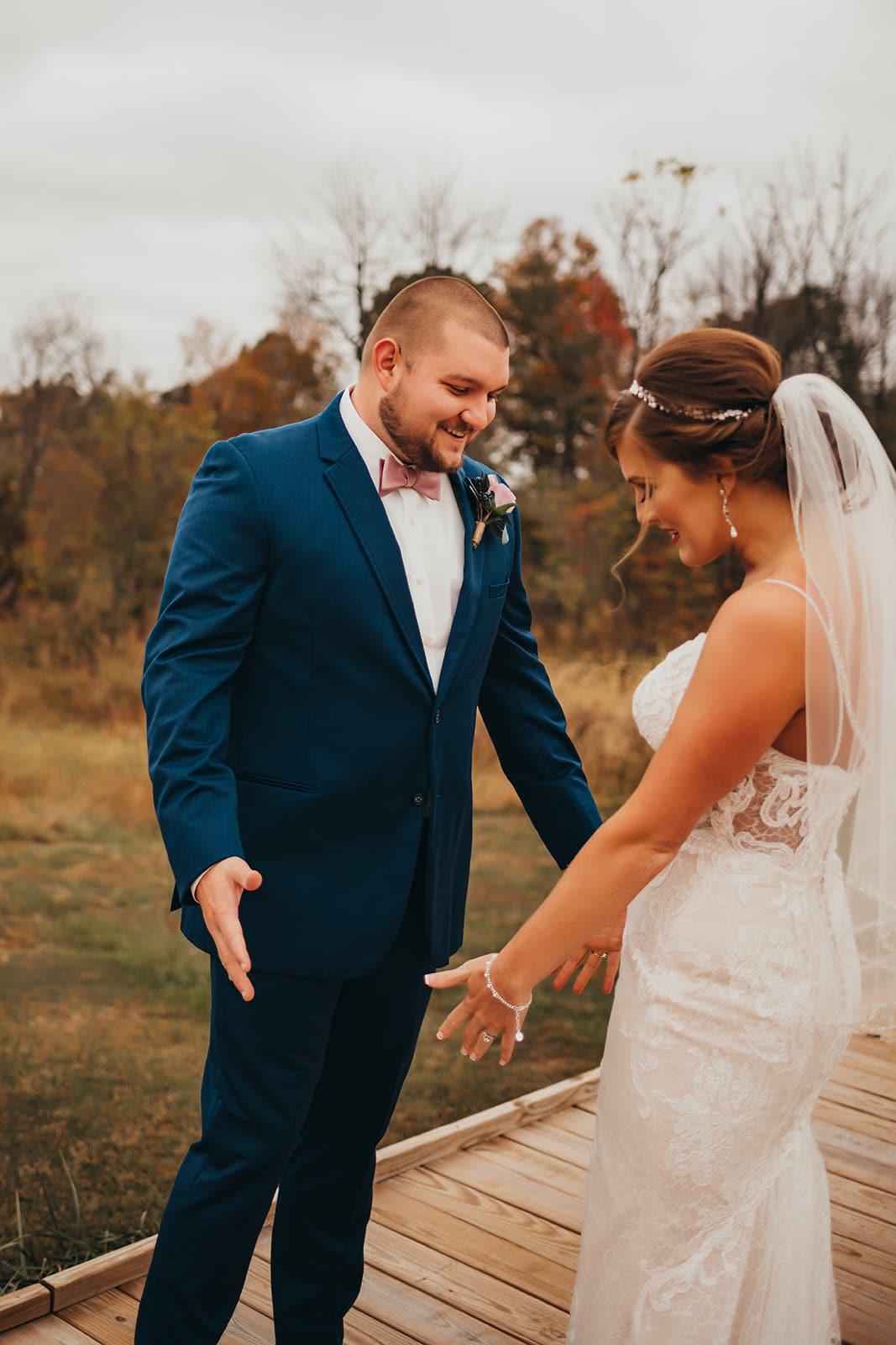 Burdoc Farms wedding first look
