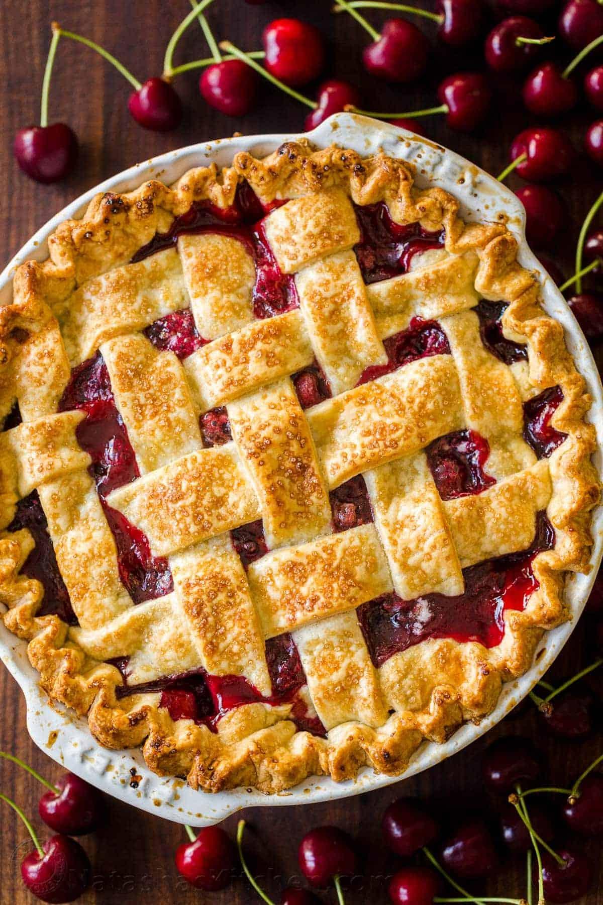 Classic Cherry Pie Recipe Video Natashaskitchen Com