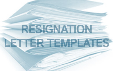 Resignation letter templates   Nationwide Employment Lawyers