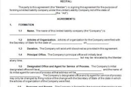Single Member Llc Operating Agreement Template Free Gallery - Multi member llc operating agreement template