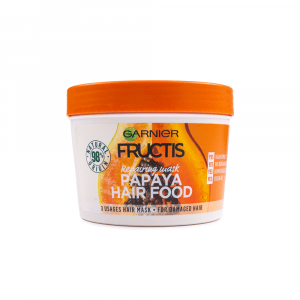 Garnier – Masca regeneratoare 3 in 1 Fructis Papaya Hair Food 390 ml